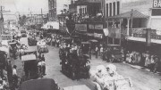 Parade down Flagler Street in 1911