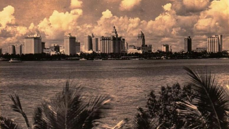 Miami Skyline in 1950s