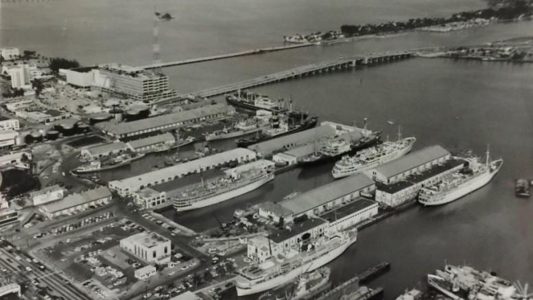 Port of Miami in 1964