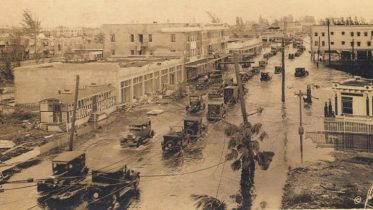 Flooded Street in Miami during 1926 Hurricane.