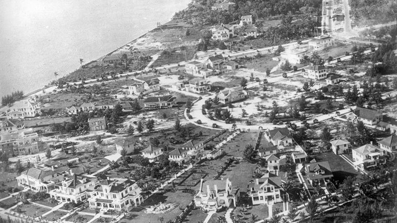 Aerial of Point View in the early 1920s