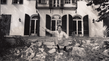 Paul George at Cocoplovis Mansion on Brickell Ave in 1988
