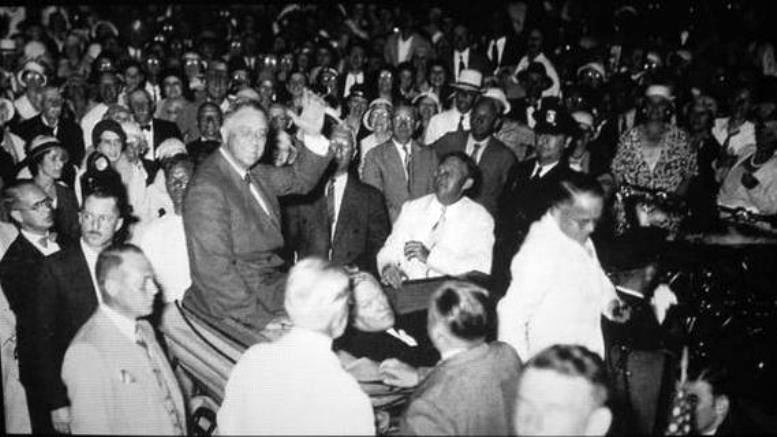 FDR in Bayfront Park on February 15, 1933